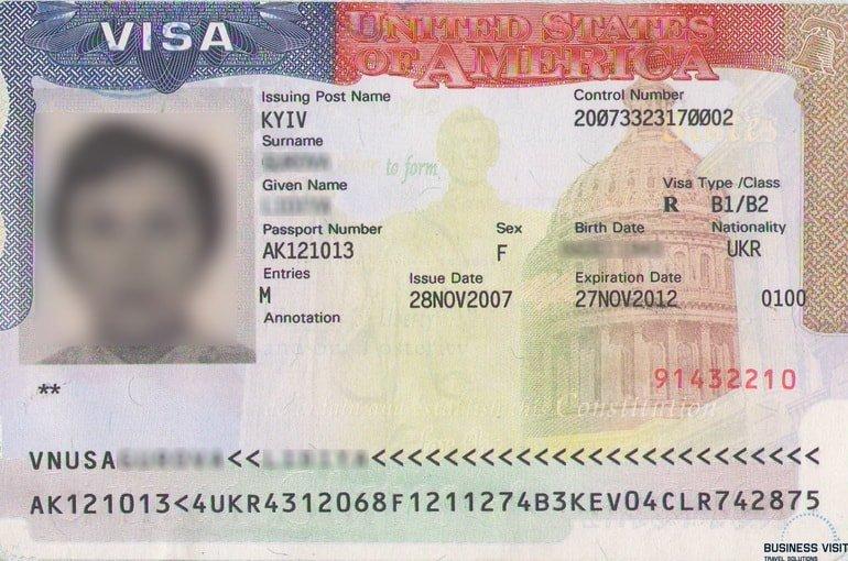 Бизнес виза в США B1/B2