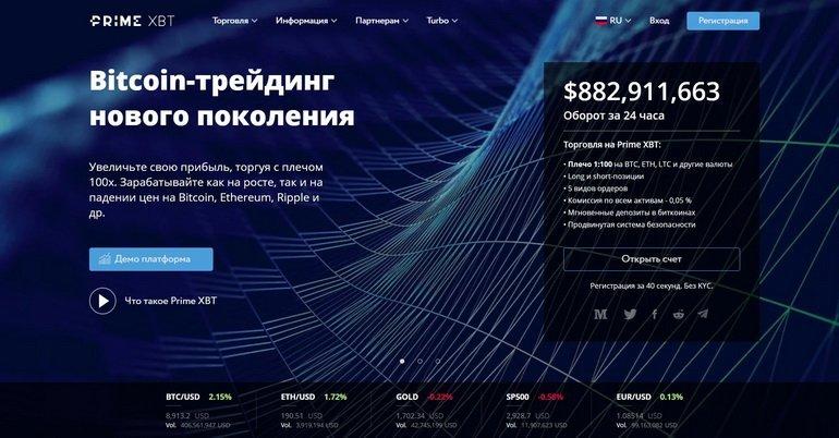 PrimeXBT биткоин трейдинг нового поколения