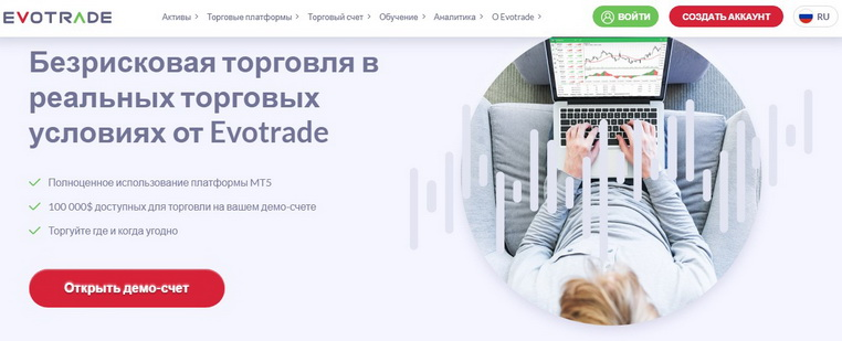 Типы счетов на сайте Evotrade